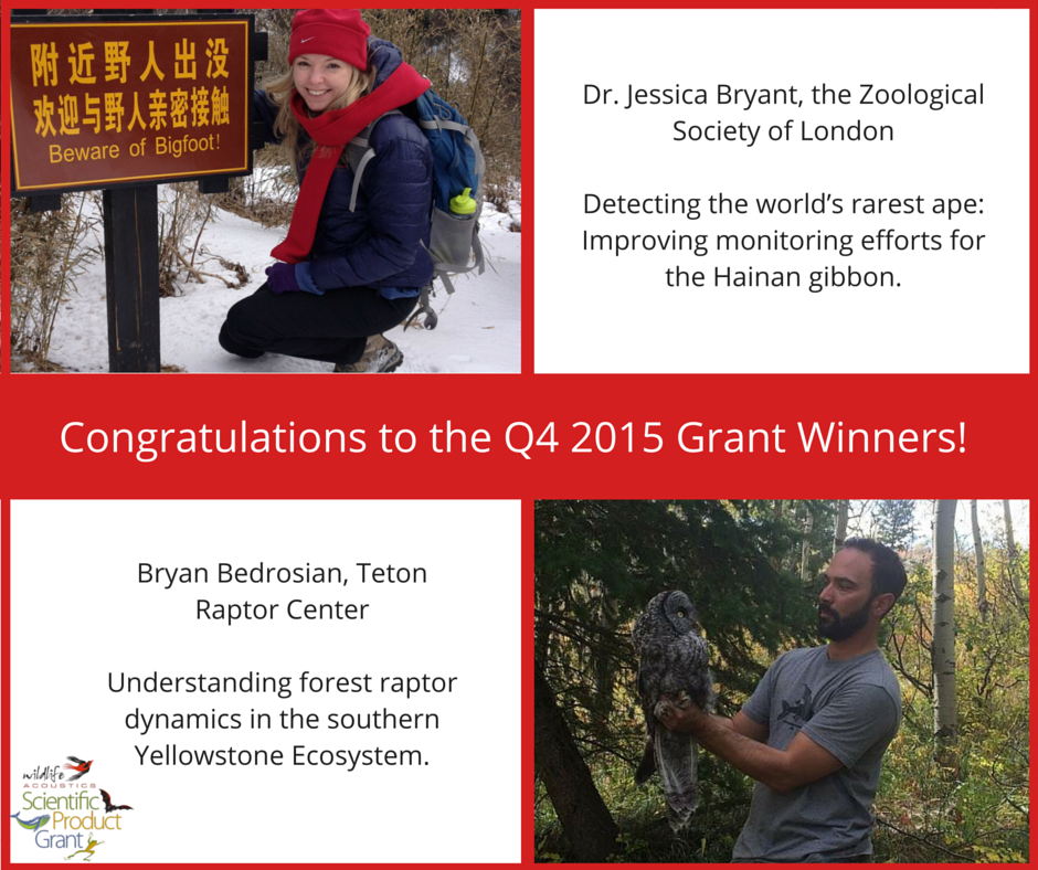 Announcing the Winners of the Q4 2015 Product Grant