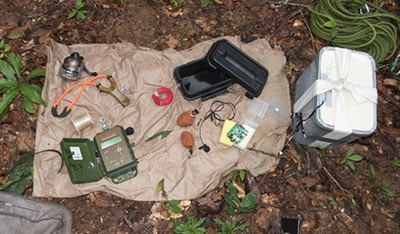 Monitoring the hunting of large Amazonian mammals and birds using remote acoustic recorders to locate gunshots.